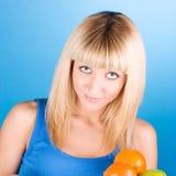 A perfuração eyes o blonde Imagens de Stock Royalty Free