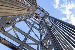 Perfuração para a exploração do petróleo Rig Inside View imagem de stock royalty free