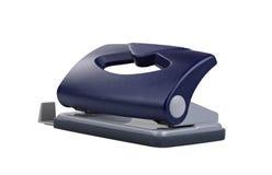 Perfurador de furo azul do papel do escritório Fotografia de Stock