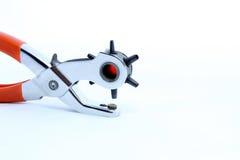 Perfurador de furo de couro isolado Foto de Stock Royalty Free