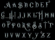 Perfurador de otário de Steampunk do alfabeto do álbum de recortes de Digitas Fotos de Stock Royalty Free