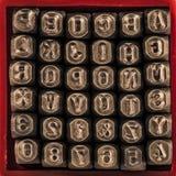 Perfuradores da letra & do número Fotos de Stock Royalty Free