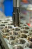 Perfuração do metal Fotografia de Stock