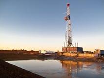 Perfuração para a exploração do petróleo Rig-0214 Foto de Stock