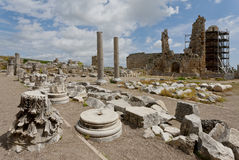 Perga Ruins in Turkey with the Hellenistic Gates Royalty Free Stock Images