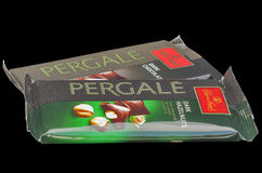 Pergale dark chocolate from Lithuania Royalty Free Stock Photos