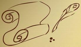 pergamena γραμμών Στοκ εικόνα με δικαίωμα ελεύθερης χρήσης