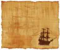 Pergamena alta della nave Fotografia Stock