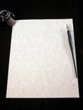Pergamena in bianco Fotografia Stock