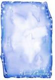 Pergamena blu di natale - watercolour Fotografie Stock