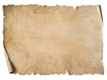 Pergamena d'annata della mappa del tesoro isolata su bianco royalty illustrazione gratis