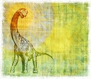 Pergamena del dinosauro Immagini Stock