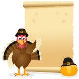 Pergamena di ringraziamento con la Turchia Fotografie Stock