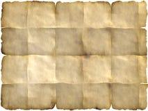 Pergamena piegata Fotografia Stock