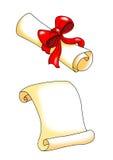 Pergamena, proclamazione Fotografia Stock