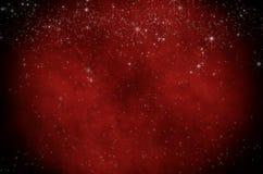 Pergamena rossa stellata di Natale fotografia stock