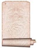 Pergamena rotolata grunge dell'annata Fotografia Stock