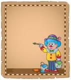 Pergament med målningclownen Royaltyfria Bilder