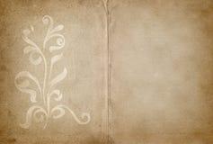 Pergament mit Blumenauslegung Lizenzfreie Stockfotos