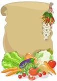 Pergament mit Gemüse Lizenzfreies Stockfoto