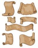 Pergamentsnirklar Royaltyfri Illustrationer