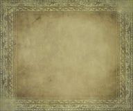 Pergaminho antigo claro com frame Imagem de Stock