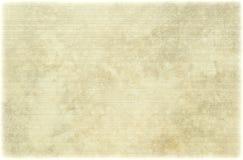 Pergaminho antigo com nervuras claro Foto de Stock
