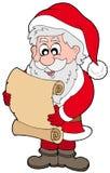 Pergaminho da leitura de Papai Noel Imagens de Stock