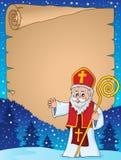 Pergaminho 1 do assunto da São Nicolau ilustração do vetor