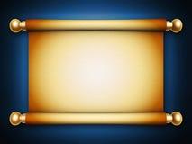 Pergaminho dourado do rolo Imagens de Stock Royalty Free