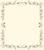 Pergaminho floral Imagem de Stock Royalty Free