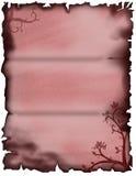 Pergaminho floral vermelho Fotografia de Stock Royalty Free