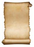 Pergaminho ou papel velho do rolo isolado Fotos de Stock Royalty Free