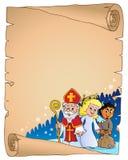 Pergaminho temático 2 de Nicholas Day de Saint ilustração royalty free