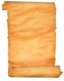 Pergaminho velho com bordas entalhadas. Fotografia de Stock Royalty Free