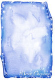 Pergamino azul de la Navidad - watercolour Fotos de archivo