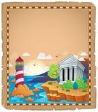 Pergamino con el tema griego 1 Fotografía de archivo libre de regalías