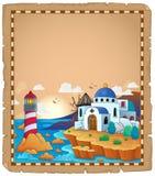 Pergamino con el tema griego 2 Imagenes de archivo