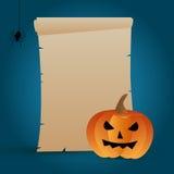 Pergamino de Halloween Fotografía de archivo