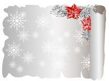 Pergamino de la Navidad Fotografía de archivo