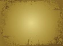 Pergamino de oro stock de ilustración