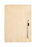 Pergamino de papel envejecido en blanco Foto de archivo libre de regalías