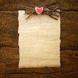Pergamino del día o de la boda de la tarjeta del día de San Valentín Fotografía de archivo libre de regalías