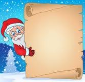 Pergamino 3 del tema de la Navidad Foto de archivo libre de regalías