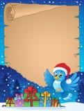 Pergamino 7 del tema de la Navidad Imágenes de archivo libres de regalías