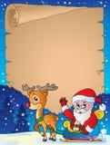 Pergamino 6 del tema de la Navidad Imágenes de archivo libres de regalías