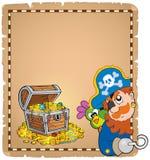 Pergamino 8 del tema del pirata Imágenes de archivo libres de regalías