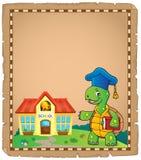 Pergamino 1 del tema del profesor de la tortuga Fotografía de archivo