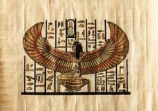 Pergamino egipcio antiguo fotografía de archivo libre de regalías