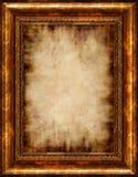 Pergamino enmarcado antigüedad quemado Foto de archivo libre de regalías